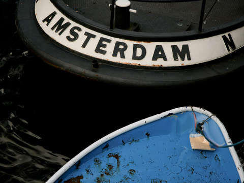 Boats in an amsterdam canal