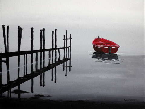 A red boat