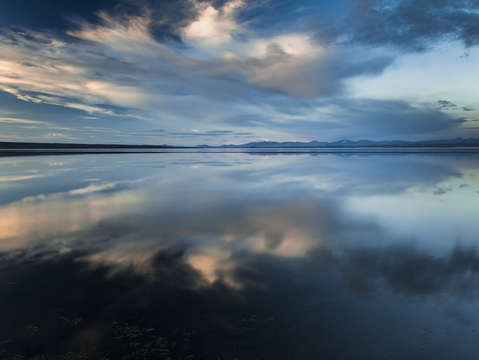 Yellowstone lake reflection