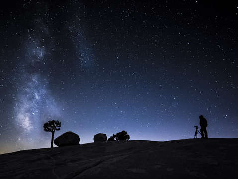 The milky way and photographer