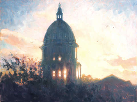 Denver capital building at dawn