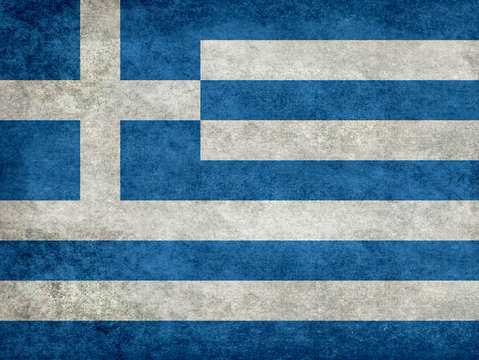 National flag of greece retro style