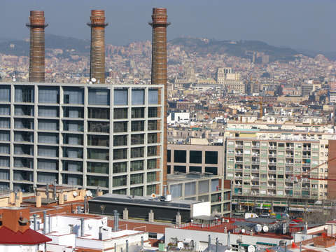 Smokestacks In Barcelona