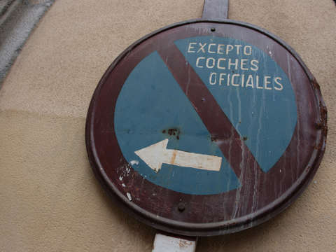 Street sign in madrid