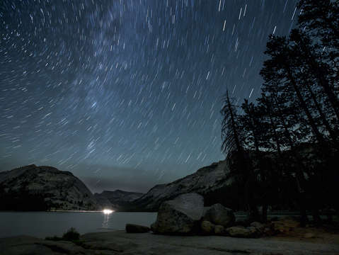 Stars over Tenaya Lake