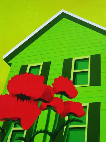 House with Poppies