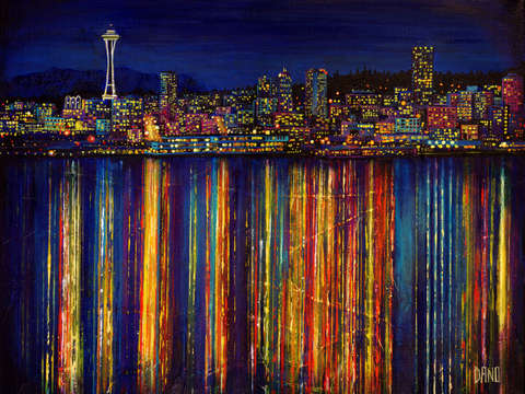 Seattle night skyline 2