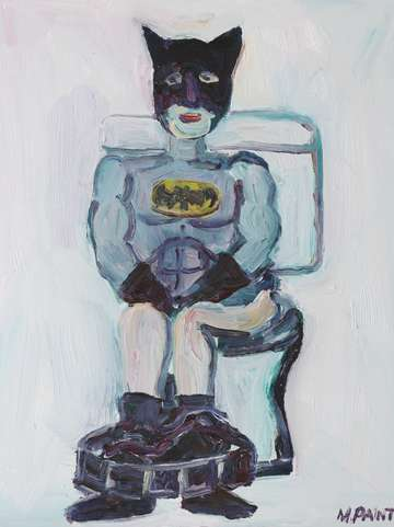 Batman on the toilet