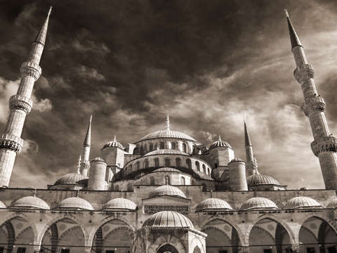 The blue mosque in infrared