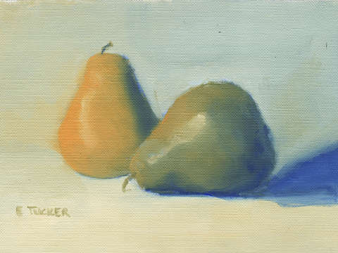 Pears naples yellow blue