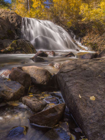 Lundy canyon waterfall