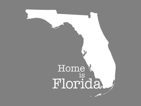 Home is florida state outline illustration