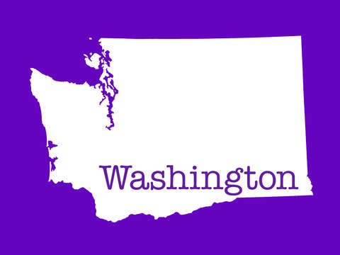 Washington in purple