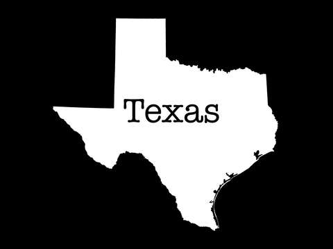Texas in black
