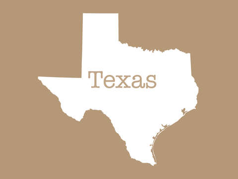 Texas in biege