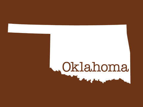 Oklahoma in brown