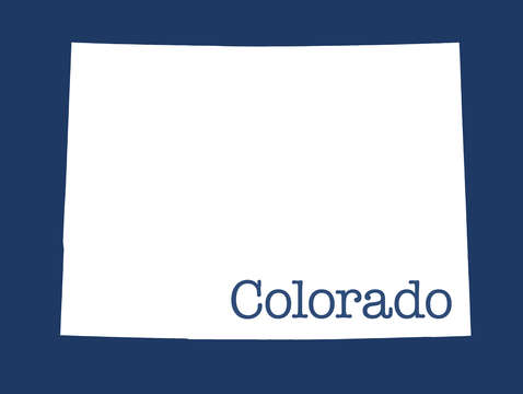 Colorado in blue
