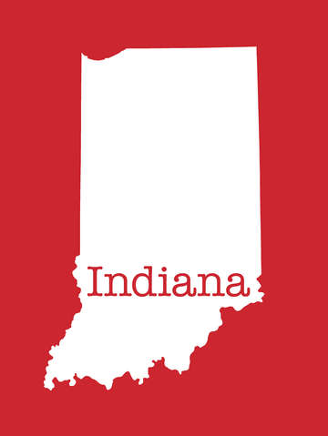 Indiana in red