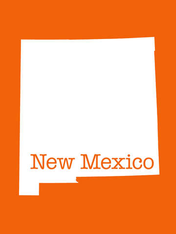 New mexico in orange