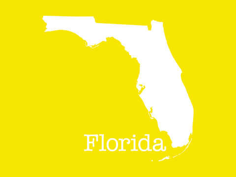 Florida in yellow