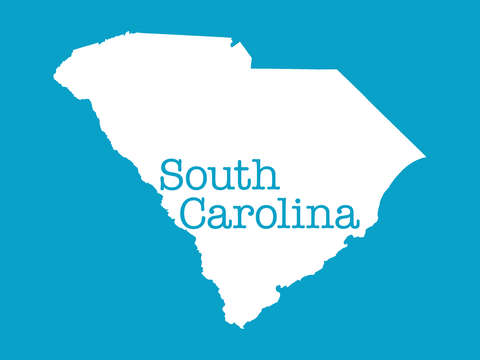 South carolina in aqua