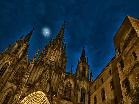 Moonlight cathedral 2 barcelona