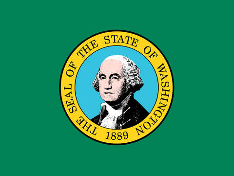 Washington state flag authentic