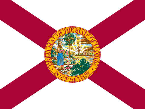Florida state flag authentic