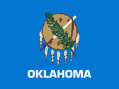 Oklahoma state flag authentic version