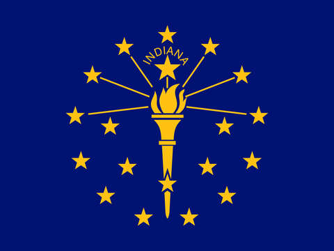 Indiana state flag authentic version