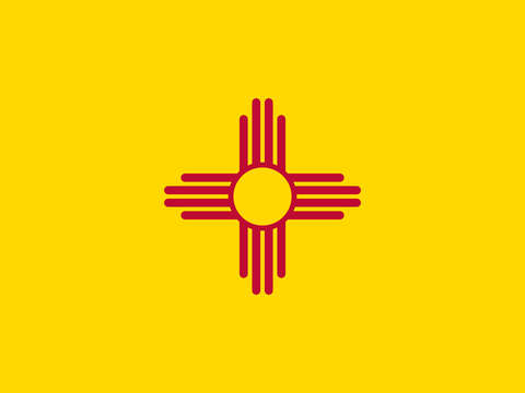 New mexico state flag authentic version