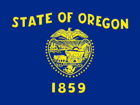 Oregon state flag authentic version