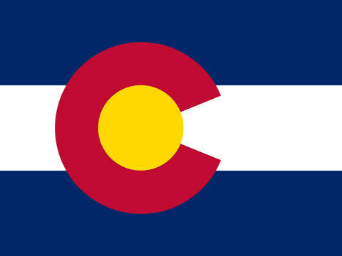 Colorado state flag authentic version