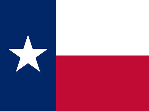 Texas state flag authentic version