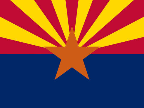 Arizona state flag authentic version 2