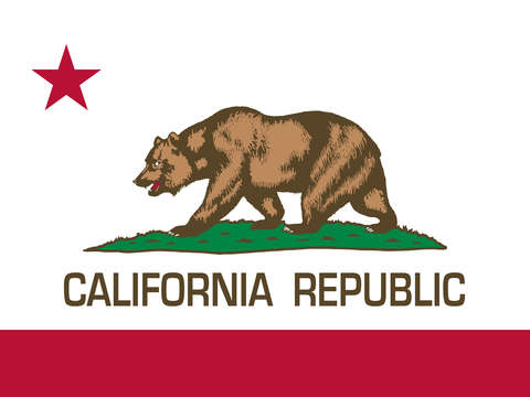 California republic state flag authentic version