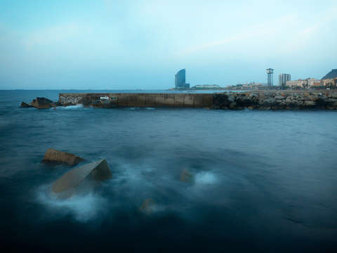 Misty sea 11 barcelona