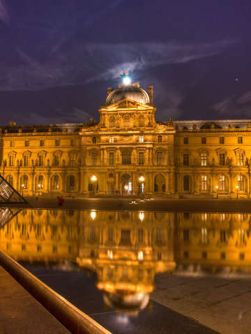 Reflections of the louvre