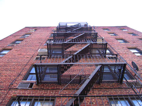 Fire escape in the bronx
