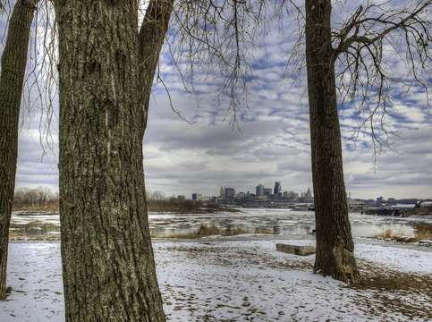 Kaw point in winter