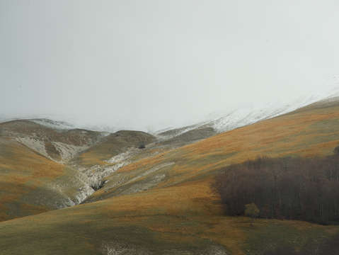 On the way to scanno italy