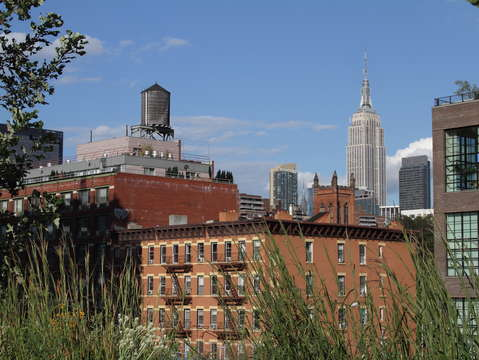 View of empire state building from the highline pa