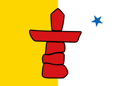 Flag of nunavut high quality authentic hd version