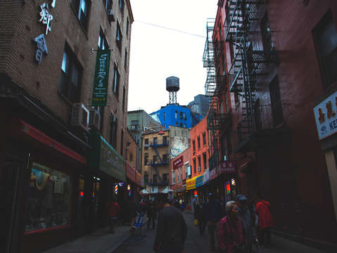 Rainy day in chinatown