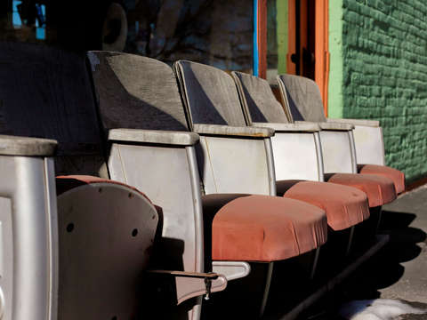 Outdoor theater seats