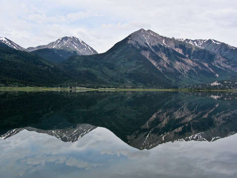 Twin lakes reflection
