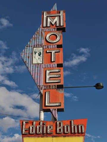 Eddie bohn motel sign
