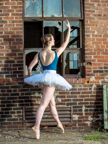 Ballet releve in brick