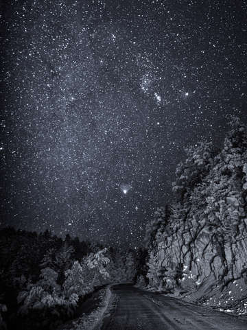Stars above new mexico usa