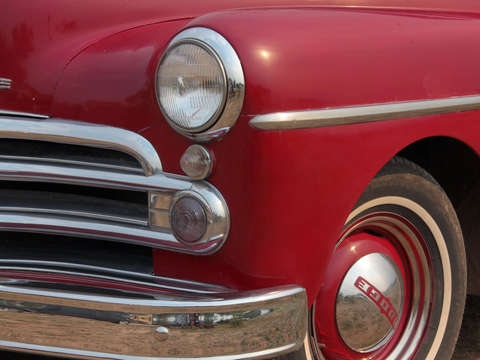Old red dodge pickup